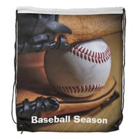 StringBag: Baseball Season Cinch Bag