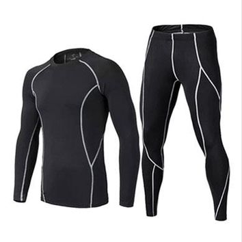 2016 17  thermal underwear men underwear sets compression underwear men fitness clothing