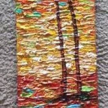 New Day #38 Acrylic Paint on Wood Art Original