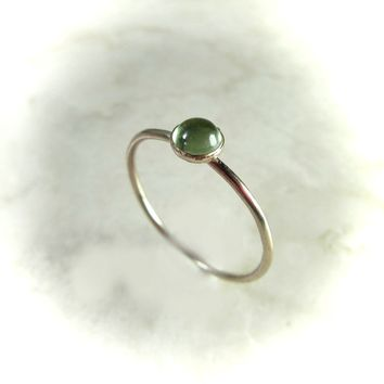 Stacking Ring Gold Peridot Gemstone