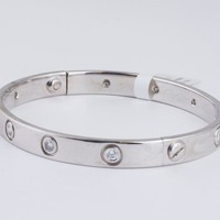Cartier LOVE Bracelet 1997 - 18k White Gold with Diamonds