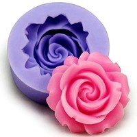 Allforhome Mini Silicone Resin Flower Clay Candy Chocolate Ice Tray Mold Soap DIY Molds Fondant Tool (MULTI, 1)