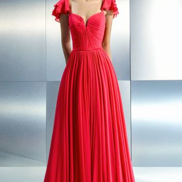 Beside Couture - CH1658 Butterfly Sleeves Evening Gown