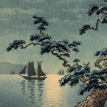 Yamato-e Art Printed on Canvas for Japanese Painting Home and Office Wall Decor Without Frame