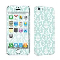 SkinGuardz Protective Vinyl Decal Sticker Skin for Apple iPhone 5C - (Teal Retro)