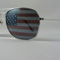 American Flag Aviator Sunglasses State Glasses