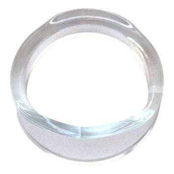 Pre-owned Clear Lucite Napkin Rings