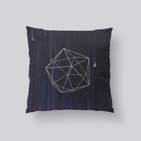 Throw Pillows for Couches / Geo Rain by Leftfield_Corn