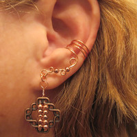Non Pierced Ear Cuff  Celtic Square Cartilage Conch Cuff