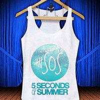 5 Second Of Summer Mint City #thetengtop for Tank Top Mens and Tank Top Girls custom