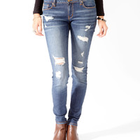 Distressed Denim Skinnies