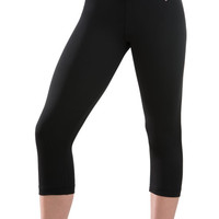Black DryTech Gymnastics Capri Pants from GK Elite