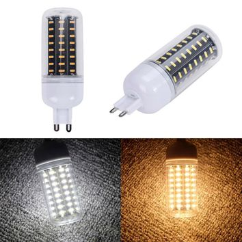 G9 25W 110V 72LED 4014 SMD Energy Saving Light Corn Lamp Bulb Pure/Warm White Chandelier Candle LED Lights For Home Decoration