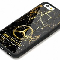 Mercedes-Benz AMG Golden Marble Logo iPhone 6 6s 7 8 X Plus Hard Plastic Case