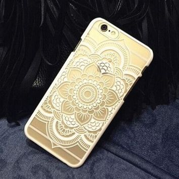 ca PEAPTM4 Plastic iPhone 6 Case, Clear iPhone 6 plus Cover with  Lace Print, Bohemian Phone Cover, Mandala Print Cover, Henna Case, Ethnic iPhone Case [8295697799]
