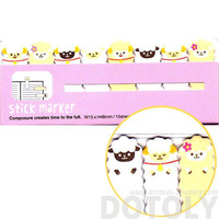 Adorable Alpaca Llama Lamb Shaped Peep Out Memo Post-it Sticky Tabs from Japan | Cute Affordable Animal Themed Stationery