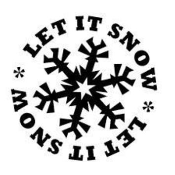 Let It Snow  Vinyl Car/Laptop/Window/Wall Decal