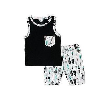 Baby boy clothes kids clothes sets vest top +pants suit clothing set newborn sport suits Clothes Set