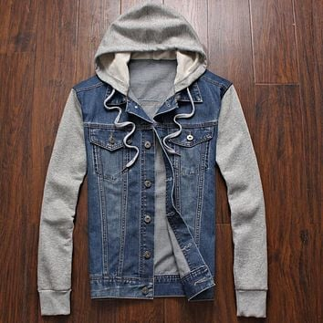 Denim Jacket men Cowboy Mens