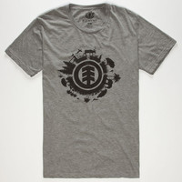 Element Contest Mens T-Shirt Heather Black  In Sizes