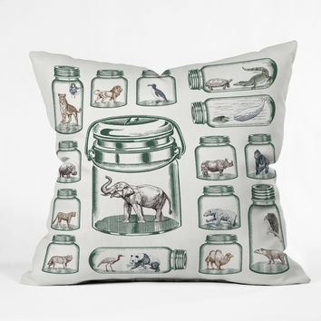 Belle13 Endangered Species Preservation Throw Pillow