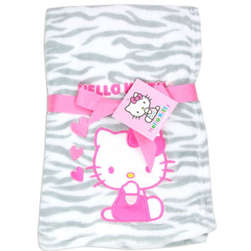 Hello Kitty Baby Girl's Plush Blanket