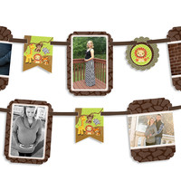 Baby Shower Photo Garland Banners - Funfari - Fun Safari Jungle