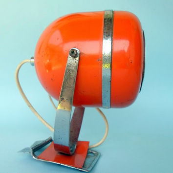Orange spot light / mid century /wall lamp
