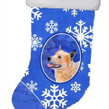 Australian Cattle Dog Winter Snowflakes Snowflakes Holiday Christmas  Stocking