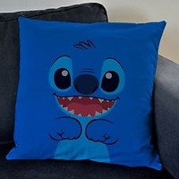 disney lilo and stitch cute stitch walpaper white  pillow case 2sides 20x20