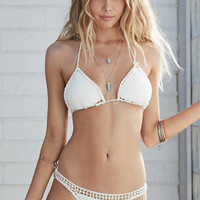 Billabong Hippie Hooray Crochet Triangle Bikini Top at PacSun.com