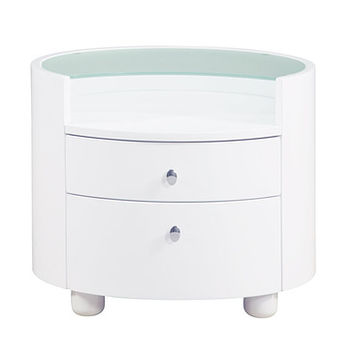 Global Furniture USA Emily 2 Drawer Nightstand in White