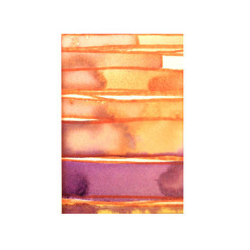 original abstract watercolor painting - gallery fine art - modern contemporary interior design - ooak home wall decor - sunset