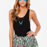 Playful Spectrum Mint Print Shorts