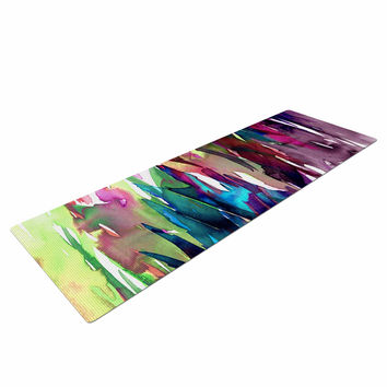 "Ebi Emporium ""Fervor 4"" Magenta Abstract Yoga Mat"