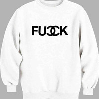 Fuck Chanel Logo Sweater for Mens Sweater and Womens Sweater *
