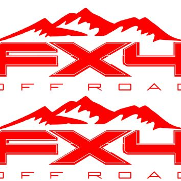 FX4 Off Road MOUNTAIN Bedside Fits Ford 2008-2017 F150-250 SUPER DUTY
