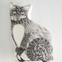 Cats Slumber Party Animal Pillow in Feline by ModCloth