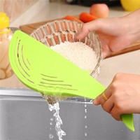 3pcs Plastic Rice Washer and Strainer for Easy Handling (Random Color)