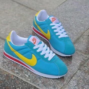 nike cortez unisex sport casual multicolor cloth surface running shoes couple retro sneakers
