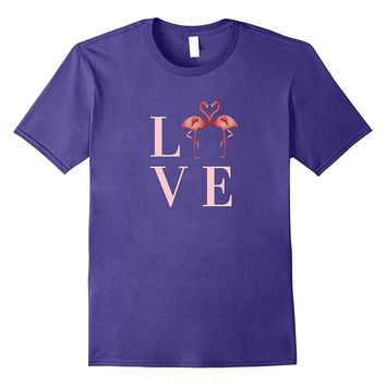 Love Pink Flamingo Shirt Valentine Day Gift Birds Watcher