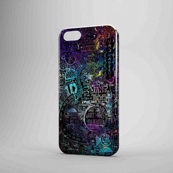 One Direction Lyrics Collage iPhone Case Samsung Galaxy Case FDL 3D