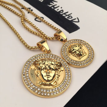 Gift New Arrival Shiny Stylish Jewelry Hot Sale Fashion Accessory Hip-hop Korean Couple Necklace [6542786691]