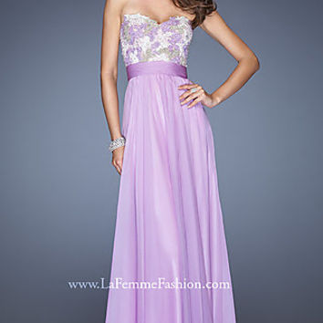 Strapless Sweetheart Prom Gown by La Femme