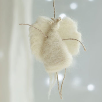 Needle Felt Angel - Christmas Decoration Ornament - Needle Felted Angel - Christmas Tree Ornament