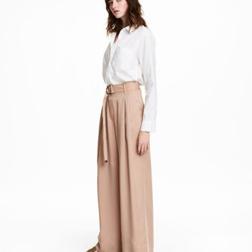 Wide-cut Lyocell Pants - from H&M