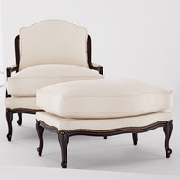 """Old Hickory Tannery - """"Ellsworth"""" Collection Bergere Chair & Ottoman - Horchow"""