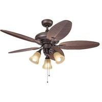 Kichler Lighting Casual Bronze 52 inch Ceiling Fan with 3-light Kit | Overstock.com Shopping - The Best Deals on Ceiling Fans