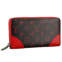 Louis Vuitton Monogram Infrarouge Zippy Wallet Red