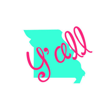 Yall state decalmonogrammed state decalpersonalized state dec